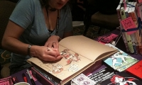Jennie Breeden of Devil's Panties whippin' up a commission!