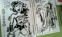 My own Wonder Woman and Dark Crystal sketches