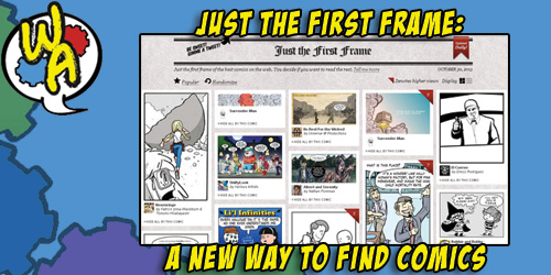 JUST THE FIRST FRAME: A NEW WAY TO FIND COMICS