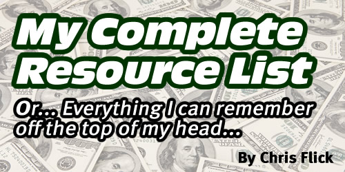 My Complete Resource List…